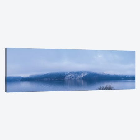 Lake in winter, Wolfgangsee Lake, Gilgen, St, Salzburgerland, Austria Canvas Print #PIM15547} by Panoramic Images Canvas Art