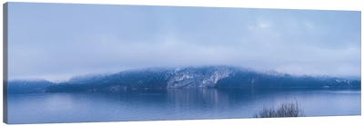 Lake in winter, Wolfgangsee Lake, Gilgen, St, Salzburgerland, Austria Canvas Art Print