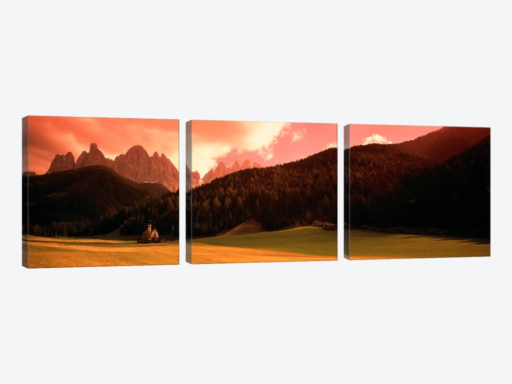 Small Church Dolomite Region Italy 3-piece Art Print
