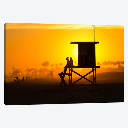 Lifeguard Tower on the beach, Newport Beach, California, USA Canvas Print #PIM15556} by Panoramic Images Canvas Print