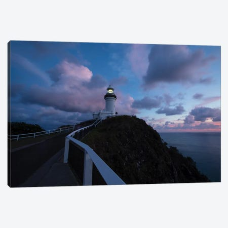 Lighthouse at sunset, Cape Byron Lighthouse, Cape Byron, New South Wales, Australia 3-Piece Canvas #PIM15557} by Panoramic Images Canvas Print