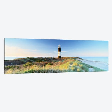 Lighthouse on the coast, Spurn Head Lighthouse, Spurn Head, East Yorkshire, England Canvas Print #PIM15559} by Panoramic Images Canvas Wall Art