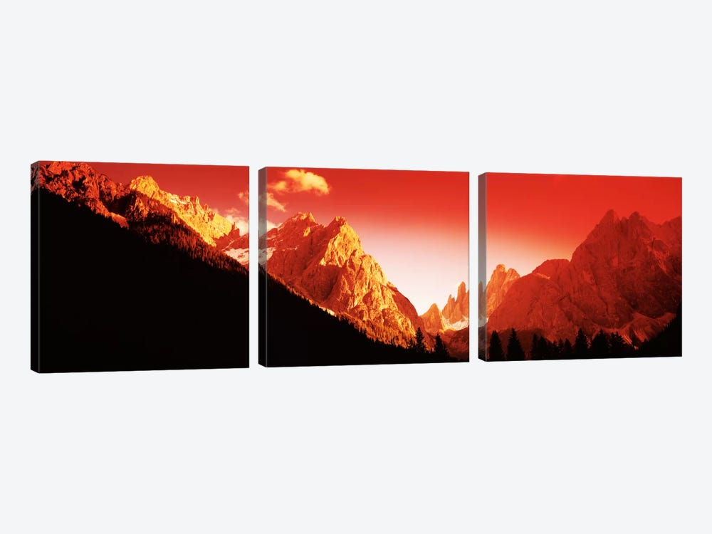 Dolomites, Southern Limestone Alps, Italy by Panoramic Images 3-piece Canvas Art