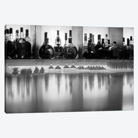 Liquor bottles and glasses, Paris, France Canvas Print #PIM15569} by Panoramic Images Canvas Art Print