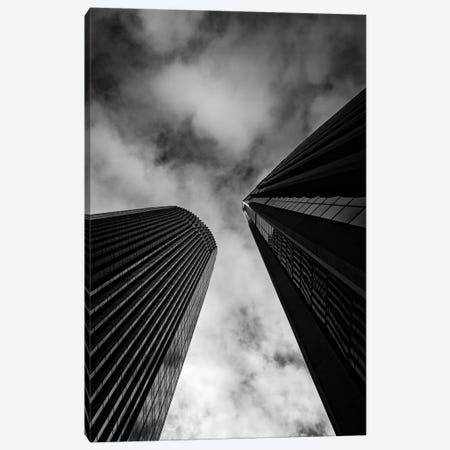 Looking up skyscrapers, San Francisco, California, USA Canvas Print #PIM15571} by Panoramic Images Canvas Artwork