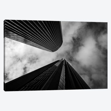 Looking up skyscrapers, San Francisco, California, USA Canvas Print #PIM15572} by Panoramic Images Canvas Artwork