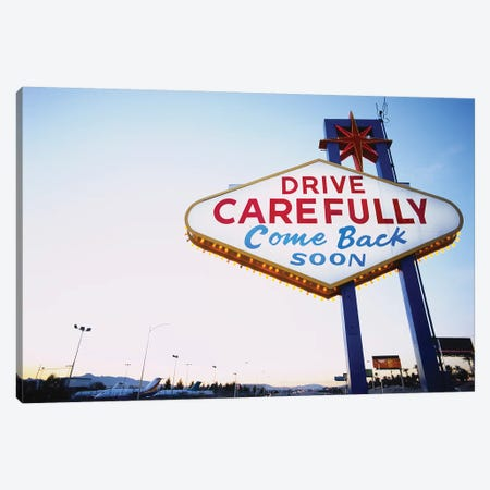 Low angle view of a signboard, Las Vegas, Nevada, USA Canvas Print #PIM15576} by Panoramic Images Canvas Print