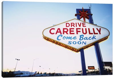 Low angle view of a signboard, Las Vegas, Nevada, USA Canvas Art Print