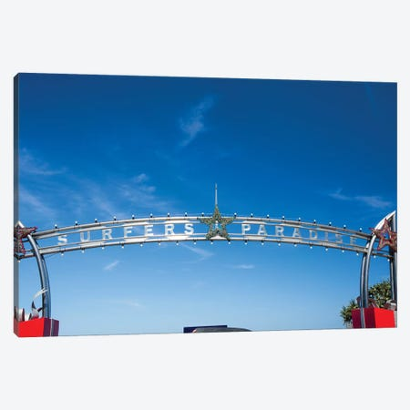 Low angle view of entrance of Surfers Paradise, City of Gold Coast, Queensland, Australia Canvas Print #PIM15579} by Panoramic Images Canvas Wall Art