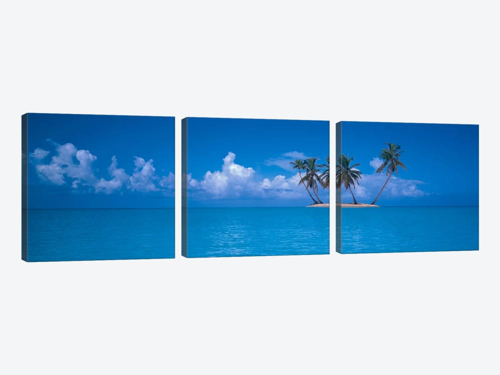 Tiny Uninhabited Island, Caribbean Sea by Panoramic Images 3-piece Canvas Art