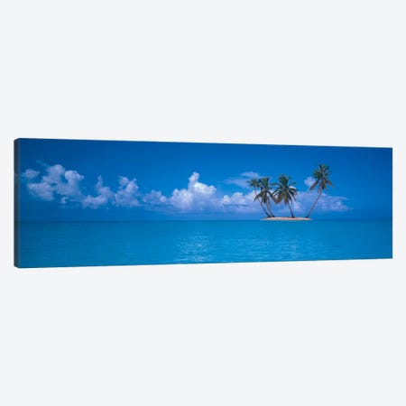 Tiny Uninhabited Island, Caribbean Sea Canvas Print #PIM1557} by Panoramic Images Canvas Art
