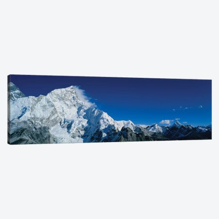 Low angle view of mountains covered with snow, Himalaya Mountains, Khumba Region, Nepal Canvas Print #PIM15580} by Panoramic Images Canvas Art Print