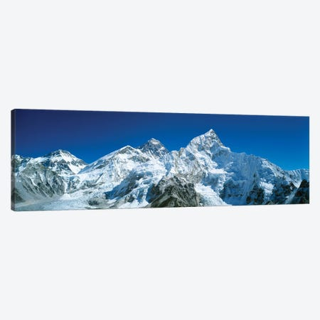 Low angle view of snowcapped mountains, Himalayas, Khumba Region, Nepal Canvas Print #PIM15581} by Panoramic Images Canvas Print