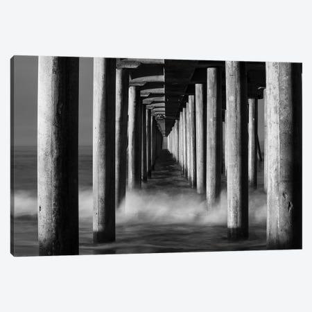 Manhattan Beach Pier from below, California, USA Canvas Print #PIM15587} by Panoramic Images Canvas Art