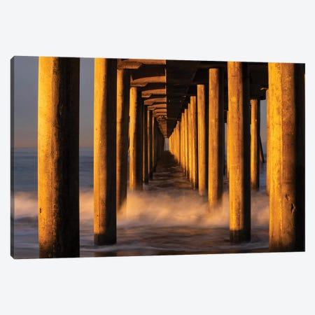 Manhattan Beach Pier from below, California, USA Canvas Print #PIM15588} by Panoramic Images Art Print