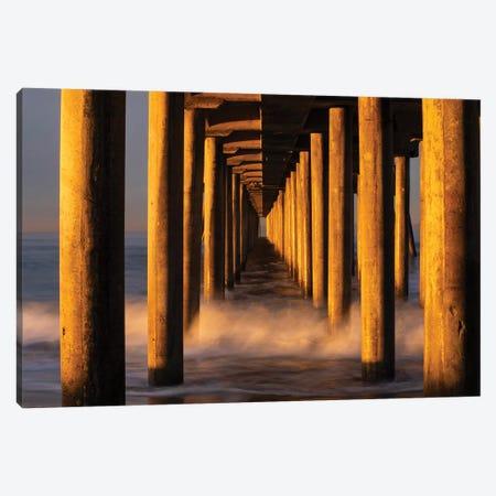Manhattan Beach Pier from below, California, USA Canvas Print #PIM15588} by Panoramic Images Art Print