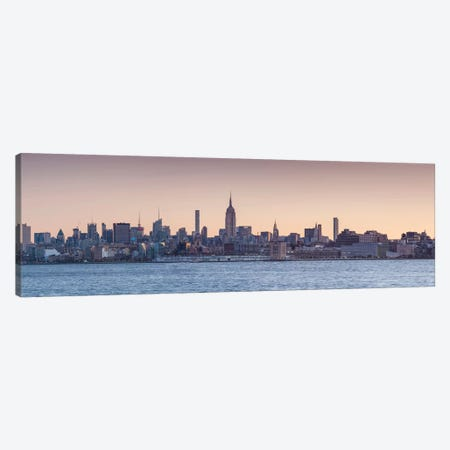 Manhattan skyline with Empire State Building, New York City, New York State, USA Canvas Print #PIM15593} by Panoramic Images Canvas Art