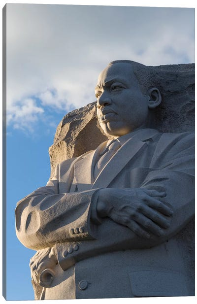 Martin Luther King Jr. Memorial is located in West Potomac Park, National Mall, Washington DC, USA Canvas Art Print