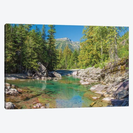 McDonald Creek along Going-to-the-Sun Road at US Glacier National Park, Montana, USA Canvas Print #PIM15595} by Panoramic Images Canvas Print