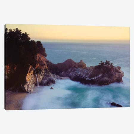 McWay Cove with McWay Falls, Julia Pfeiffer Burns State Park, California, USA Canvas Print #PIM15596} by Panoramic Images Canvas Print