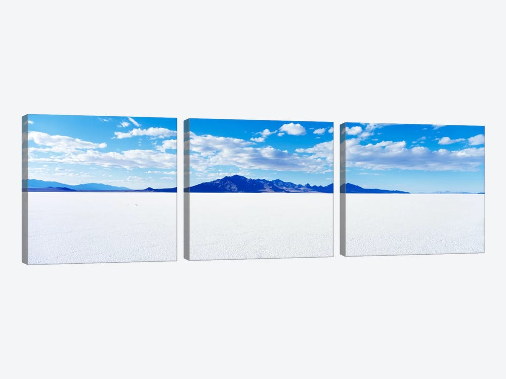 Bonneville Salt Flats, Tooele County, Utah, USA by Panoramic Images 3-piece Canvas Print