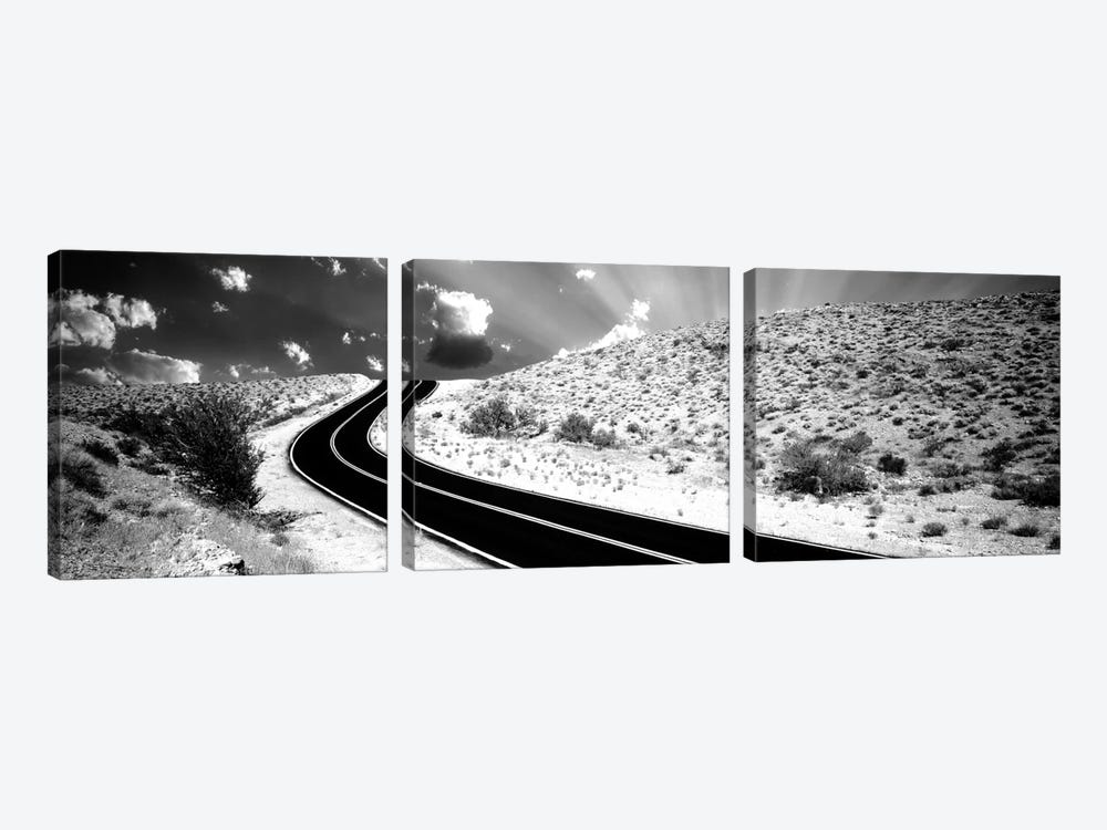 Road, Las Vegas, Nevada, USA by Panoramic Images 3-piece Canvas Artwork