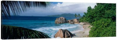 Indian Ocean La Digue Island Seychelles Canvas Print #PIM1562