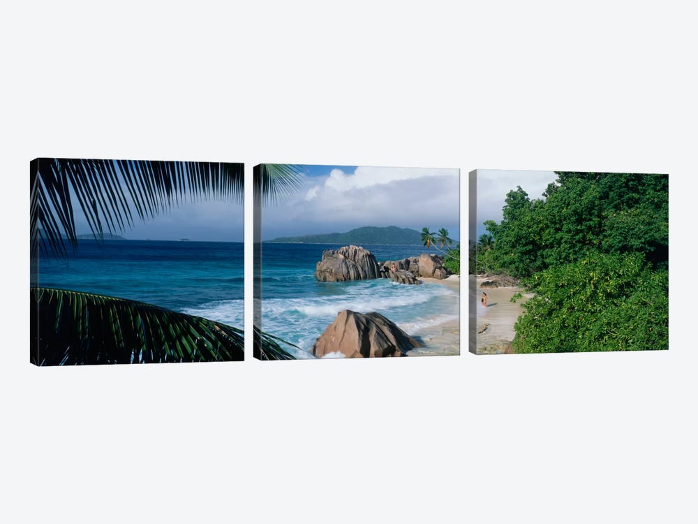 Indian Ocean La Digue Island Seychelles by Panoramic Images 3-piece Canvas Artwork