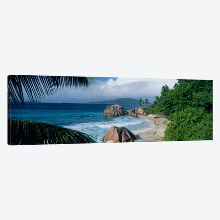 Indian Ocean La Digue Island Seychelles 3-Piece Canvas #PIM1562} by Panoramic Images Canvas Artwork