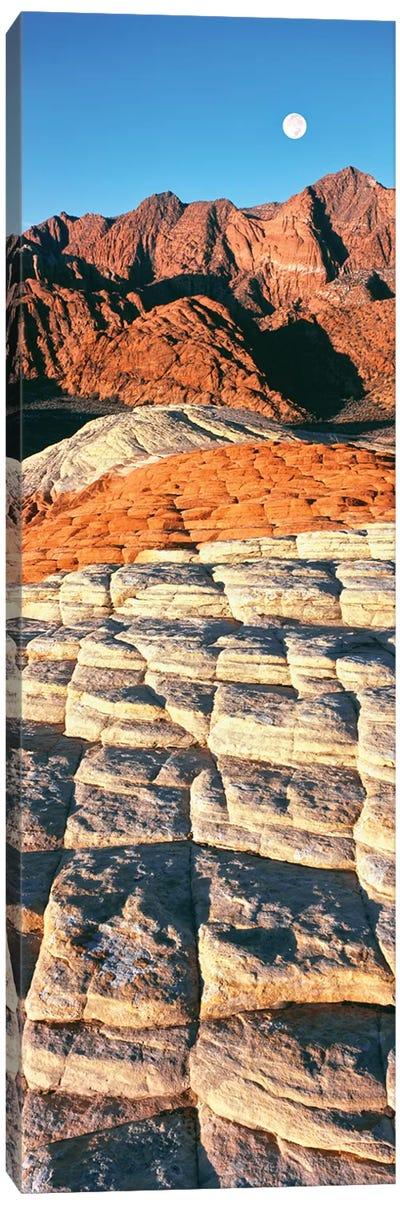 Petrified dunes, Snow Canyon State Park, Utah, USA Canvas Art Print