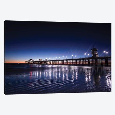 Pier in the Pacific Ocean, Huntington Beach Pier, Huntington Beach, California, USA Canvas Print #PIM15638} by Panoramic Images Canvas Art Print