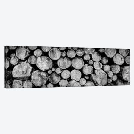 Pile of tree trunks in close-up, Freudenstadt, Baden Wurttemberg, Germany Canvas Print #PIM15640} by Panoramic Images Canvas Art