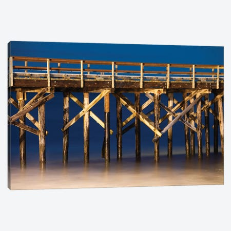 Pismo Beach Pier at sunset, California, USA Canvas Print #PIM15641} by Panoramic Images Canvas Art