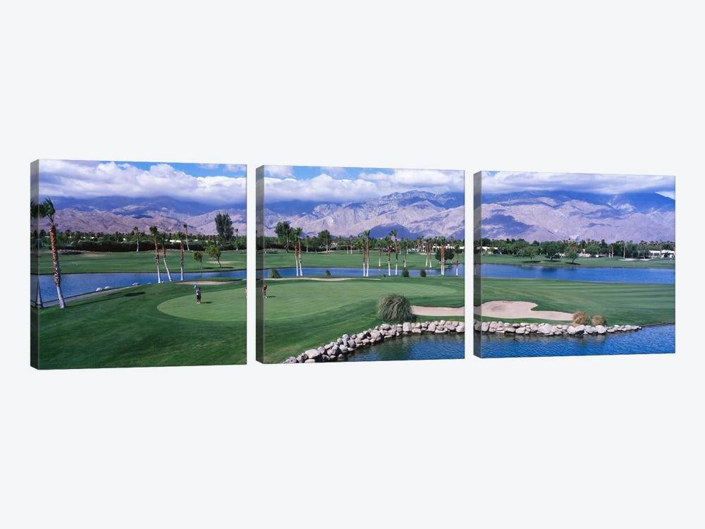 Golf CoursePalm Springs, California, USA by Panoramic Images 3-piece Canvas Print