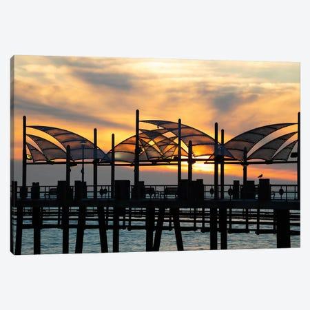 Redondo Beach Pier at sunset, Redondo Beach, California, USA Canvas Print #PIM15682} by Panoramic Images Canvas Artwork