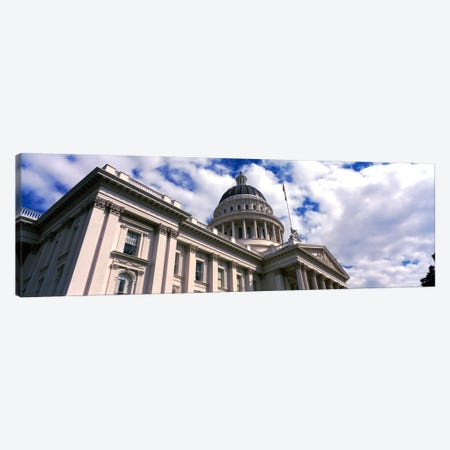 USA, California, Sacramento, Low angle view of State Capitol Building Canvas Print #PIM1568} by Panoramic Images Canvas Artwork