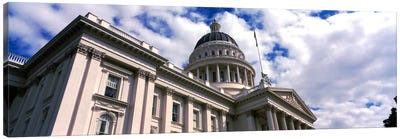 USA, California, Sacramento, Low angle view of State Capitol Building Canvas Art Print