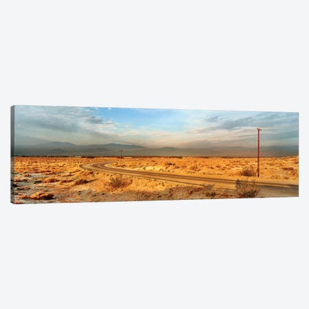 Road passing through desert, Palm Springs, Riverside County, California, USA Canvas Print #PIM15692} by Panoramic Images Canvas Print