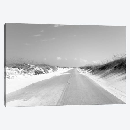 Road passing through sand dunes, Perdido Key Area, Gulf Islands National Seashore, Pensacola, Florida, USA 3-Piece Canvas #PIM15693} by Panoramic Images Art Print