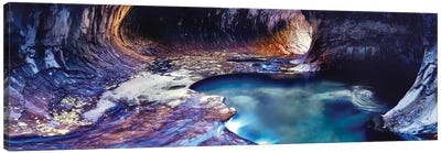Rock formations at a ravine, North Creek, Zion National Park, Utah, USA Canvas Art Print