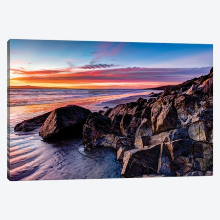 Rock formations on the beach at sunrise, Baja California Sur, Mexico Canvas Print #PIM15696} by Panoramic Images Canvas Art