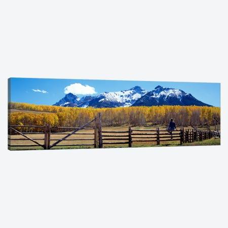 San Juan Mountains, Ridgeway, Colorado, USA 3-Piece Canvas #PIM156} by Panoramic Images Canvas Print