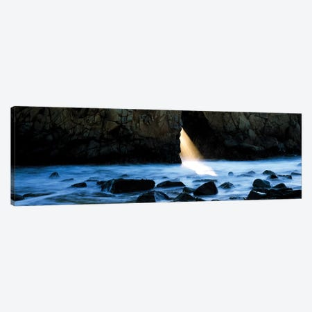 Rocks in a river, Pfeiffer Arch, Big Sur, California, USA Canvas Print #PIM15702} by Panoramic Images Canvas Print