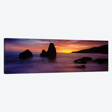 Rodeo Beach at sunset, Golden Gate National Recreation Area, California, USA Canvas Print #PIM15705} by Panoramic Images Canvas Wall Art