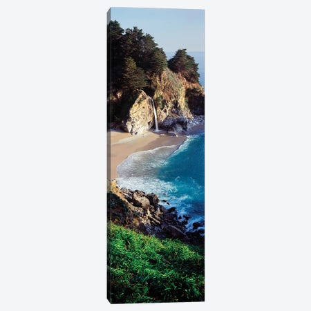 Sandy coastal beach of Julia Pfeiffer Burns State Park, California, USA Canvas Print #PIM15716} by Panoramic Images Canvas Art Print