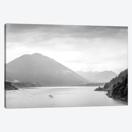 Scenic landscape of Sylvenstein Lake surroundings in springtime, Bavaria, Germany Canvas Print #PIM15718} by Panoramic Images Canvas Artwork