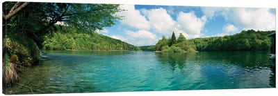 Scenic view of a lake, Plitvice Lakes National Park, Lika-Senj County, Karlovac County, Croatia Canvas Art Print