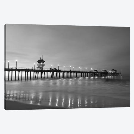 Scenic view of Huntington Beach Pier, California, USA Canvas Print #PIM15723} by Panoramic Images Canvas Print