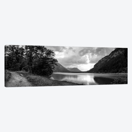 Scenic view of lake, Sylvenstein lake, Bavaria, Germany Canvas Print #PIM15724} by Panoramic Images Canvas Art