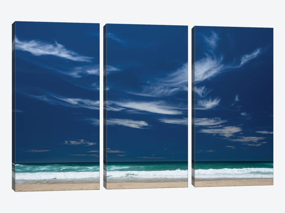 Scenic view of the ocean, Byron Bay, New South Wales, Australia by Panoramic Images 3-piece Canvas Art Print